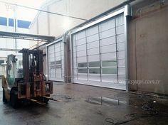Yukarı katlanır kapı Pvc Katlanır Kapı 80kmh/m2  rüzgar basıncına dayanıklıdırlar.