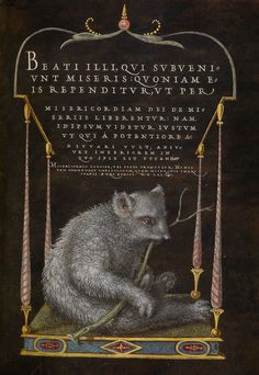Joris Hoefnagel, illuminator (Flemish / Hungarian, 1542 - 1600) and Georg Bocskay, scribe (Hungarian, died 1575) A Sloth, 1561 - 1562; illumination added 1591 - 1596, Watercolors, gold and silver paint, and ink on parchment Leaf: 16.6 x 12.4 cm (6 9/16 x 4 7/8 in.) The J. Paul Getty Museum, Los Angeles, Ms. 20, fol. 106