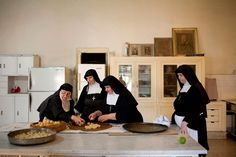 Nuns from the order of The Sisters of the Visitation make marzipan using a traditional method that has been passed down through generations of sisters.