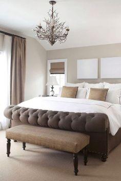 wandfarbe schlafzimmer braun beige gehäckelte tagesdecke | nappali ...