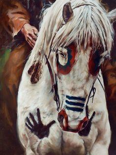 Native American War Horses | Native American Horse Painting Symbols http://www.nativeartsofamerica ...