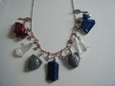 Doctor Who inspired 7 charm necklace