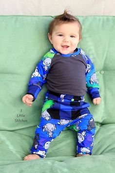 Boy's Fly Pants PDF Sewing Pattern by Ellie and Mac