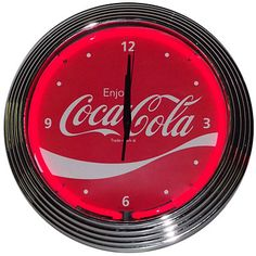 Coca-Cola Classic Wave Neon Clock - classic look with glowing neon is perfect for my home!