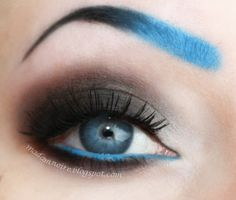 Love the eye part, def not diggin the blue eyebrow
