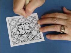 MaryHill Tangle Pattern Lesson #77 - YouTube
