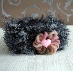 Little Misses Newborn Baby Girl Ear Warmers Knit por FashionTouch, $20.00
