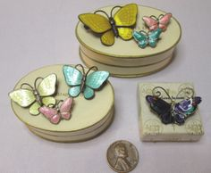 Wow, that's a lot of butterfly pins. Seven Volmer Bahner and David-Andersen Sterling Enamel Butterfly Pins w/Boxes.