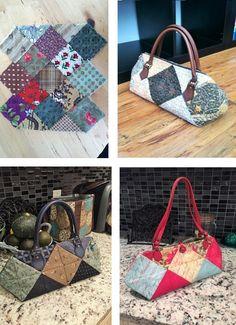 16조각 가방 만들어 보셨나요 : 네이버 블로그 Lace Bag, Bodice Pattern, Diy Tote Bag, Patchwork Bags, Fabric Bags, Quilt Block Patterns, Cloth Bags, Bag Making, Hand Sewing