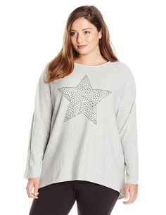 Marc New York Performance Women's Plus-Size Performance Studded Star T-Shirt >>> Special  product just for you. See it now! : Plus size Activewear