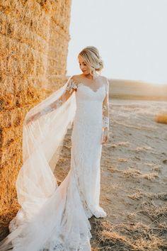 lace wedding dresses - photo by Alex Lasota http://ruffledblog.com/autumn-wedding-for-two-middle-school-sweethearts