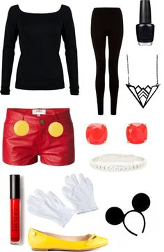 """""""Halloween Series - Mickey Mouse"""" by c-relle on Polyvore"""