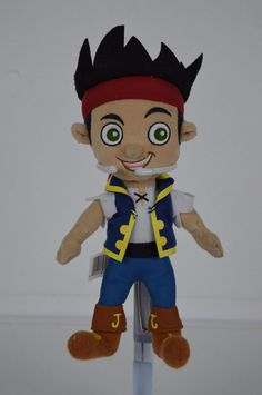 "Disney Jake Neverland Pirate Plush Doll Stuffed Toy 8"" tall FREE SHIPPING #Disney #neverlandpirates"