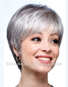 Short Hair Cuts for Women Over 60 with Fine Hair Haircuts For Fine Hair, Layered Haircuts, Short Bob Hairstyles, Wig Hairstyles, Pixie Haircuts, Haircut Short, Hairdos, Hairstyle Ideas, Grey Wig