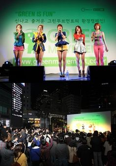 Girls' Day participate in an environmental campaign sponsored by Green Movement #allkpop #kpop #GirlsDay