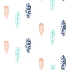 Falling Feathers fabric by a_joyful_riot on Spoonflower - custom fabric