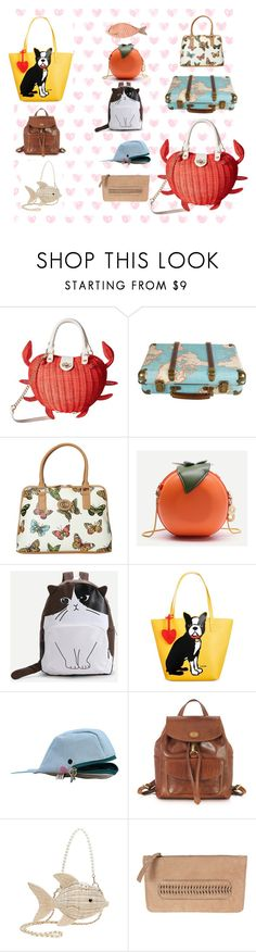 """""""Themed Bags"""" by laney-6428 ❤ liked on Polyvore featuring Betsey Johnson, Aurielle Carryland, WithChic, Marc Tetro, The Bridge and Latico"""