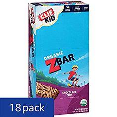 Amazon.com: CLIF KID ZBAR - Organic Energy Bar - Chocolate Chip - (1.27 Ounce Snack Bar 18 Count): Health & Personal Care