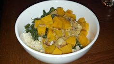 Jan 1: Brown rice bowl with chipotle kenearly beans, kale, and sweet potato