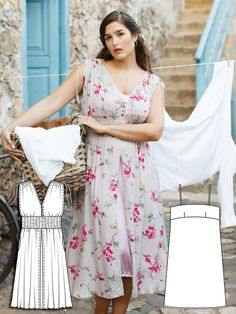 Whimsical Weekend: 9 New Plus Size Patterns – Sewing Blog | BurdaStyle.com Plus Size Summer Dresses, Summer Dress Patterns, Sewing Blogs, Sewing Tutorials, Sewing Crafts, Sewing Ideas, Sewing Projects, Clothing Patterns, Plus Size Sewing Patterns