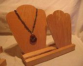 Jewelry display. Craft show display. Necklace display. Necklace bust. - Need to make some!