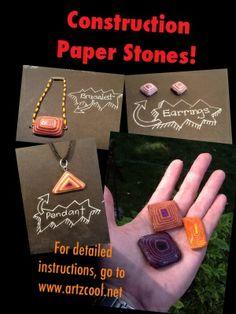Técnica interesante de darle forma de piedra  al papel