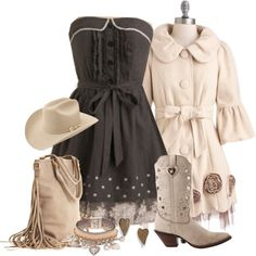 """""""Feminine Cowgirl"""" by tracireuer ❤ liked on Polyvore"""