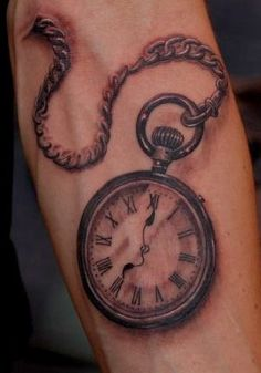 Old Fashioned Clock Tattoo | www.imgarcade.com - Online Image Arcade!