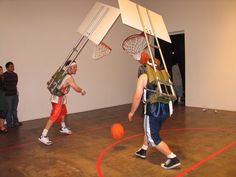 Brian Black & Ryan Bulis - BASKETBALL BACKPACK.  This would be a hilarious game @ retreats, etc.