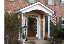 Let Colonial Remodeling create a grand and beautiful entrance for your home with a new covered porch or portico in Maryland, Virginia or Washington DC. Front Door Trims, Front Door Entryway, Front Doors, Front Porch Addition, Front Porch Design, Colonial Exterior, Exterior Trim, Brick House Trim, Portico Entry