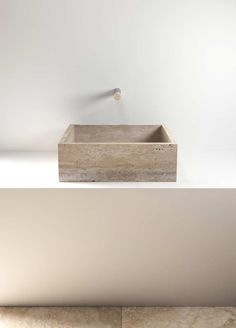 Counter-top natural stone wash basin, Petra Every Le Cave series' basin has waste plug covered in stone. Discover different materials versions. Bad Inspiration, Bathroom Inspiration, Bathroom Ideas, Minimalist Bathroom, Modern Bathroom, Wash Basin Counter, Counter Top, Magazine Deco, Stone Basin