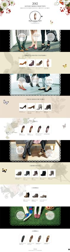 Web design. Graphic design layout, shoes store. Fashion.