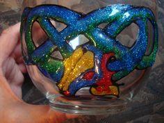 Dragon 2 Glass painting Mirjana Selena