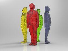 green design, eco design, sustainable design, 3d printed gummy humans, 3d printed food, Fabcafe, 3d scanner, 3d body scan