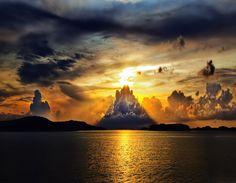 Amazing sunset in Sweden