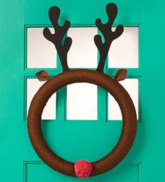 Reindeer wreath by Family Fun Magazine