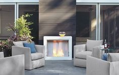 Add some warmth with a fireplace. Outdoor - Room & Board