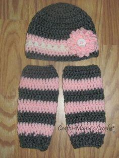 crochet leg warmers | Crochet Infant Hat and Leg Warmer Set by CraftyAsh on Etsy, $25.00