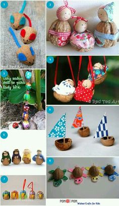 Fall Crafts, Crafts To Sell, Diy And Crafts, Arts And Crafts, Diy Christmas Ornaments, Kids Christmas, Diy For Kids, Gifts For Kids, Pine Cone Crafts
