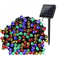 LED String Lights Solar Christmas Lights 100 LED 8 Modes Ambiance Lighting for Outdoor Patio Lawn Landscape Fairy Garden Home Wedding Holiday Waterproof Colored Lights -- Learn more by visiting the image link. Solar Powered Christmas Lights, Led Christmas Lights, Solar Powered Lights, Outdoor Christmas, Christmas Letters, Merry Christmas, Outdoor Fairy Lights, Led Fairy Lights, Outdoor Lighting