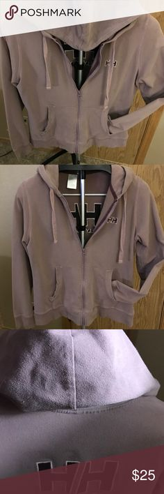 Helly Hansen full zip hoodie Soft grayish-purple hoodie from Helly Hansen. 95% cotton, 5% elastane. Helly Hansen Jackets & Coats