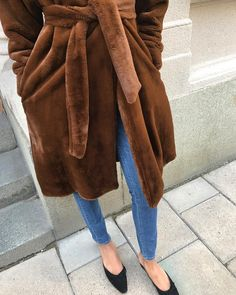 """1,122 Likes, 14 Comments - totême (@toteme) on Instagram: """"The Chelsea coat, now available in brown faux fur. Shop the latest at toteme-nyc.com"""""""