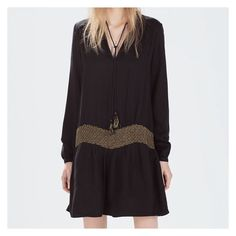 """beaded drop waist dress NWT. Never Worn. Great Condition. Size M, TTS.  Bust is approx. 22"""" across, Waist is approx. 18.5"""" across, Length is approx. 33"""".   Not Modeling. No Hold. No Trade. Price is Firm. Zara Dresses"""
