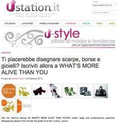 """USTATION (February 2013)_Ustation says: """"Call for Fashion Design #5 WHAT'S MORE ALIVE THAN YOU™, shoes, bags and contemporary jewellery designed by people from across the globe which tell a story, yours!"""""""