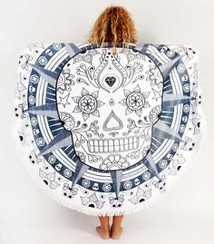 This amazing round beach towel , so soft and thick , designed by @MandalaLifeART is available from our shop