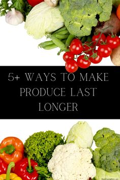 Ways to Make Produce Last Longer - Moola Saving Mom Moola Saving Mom, Frozen Bag, Shelf Life, Long A, Fruits And Vegetables, Money Saving Tips, 5 Ways, Avocado, Berries