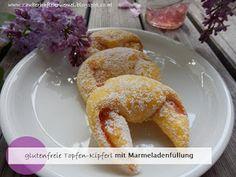 Rezept glutenfreie Topfen-Kipferl  http://zauberhaftekruemel.blogspot.co.at/2016/05/rezepte-glutenfreie-topfen-kipferl.html