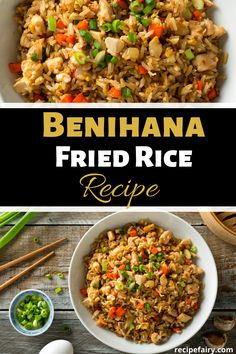 This Benihana chicken fried rice recipe is an absolute dream dish. We all know Benihana is more than just a restaurant, it's an experience. Just like your first bite of this delicious recipe. Unlock the flavors of this copycat recipe today! Shrimp And Rice Recipes, Easy Rice Recipes, Asian Recipes, Chicken Recipes, Fried Rice Recipes, Ricearoni Recipes, Japanese Recipes, Chinese Recipes, Benihana Fried Rice