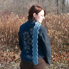 Scalloped Scarf #scarf free #crochet pattern