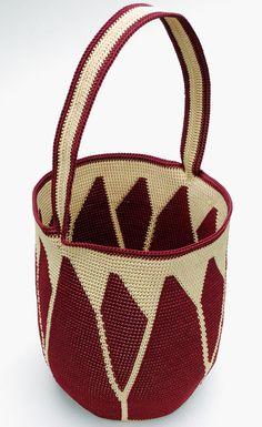 Tapestry Crochet » Blog Archive » Flower Power Basket
